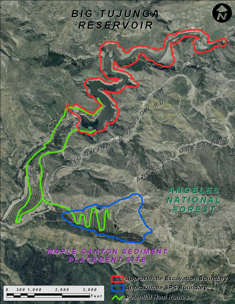 Big Tujunga Reservoir Project Map